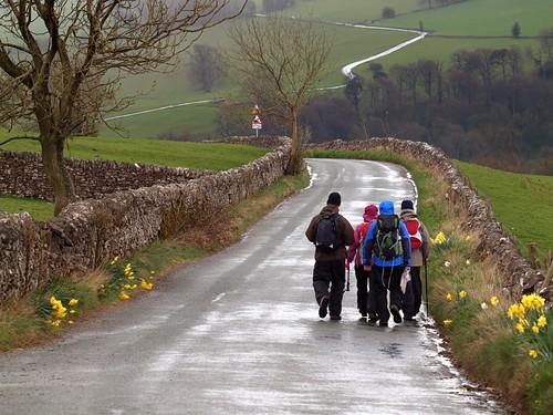 group walking reduces stress
