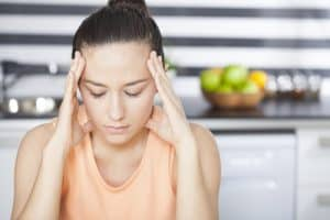 woman with stress headache